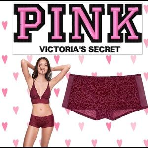 VS Pink Velvet Burnout Boyshort - NWT